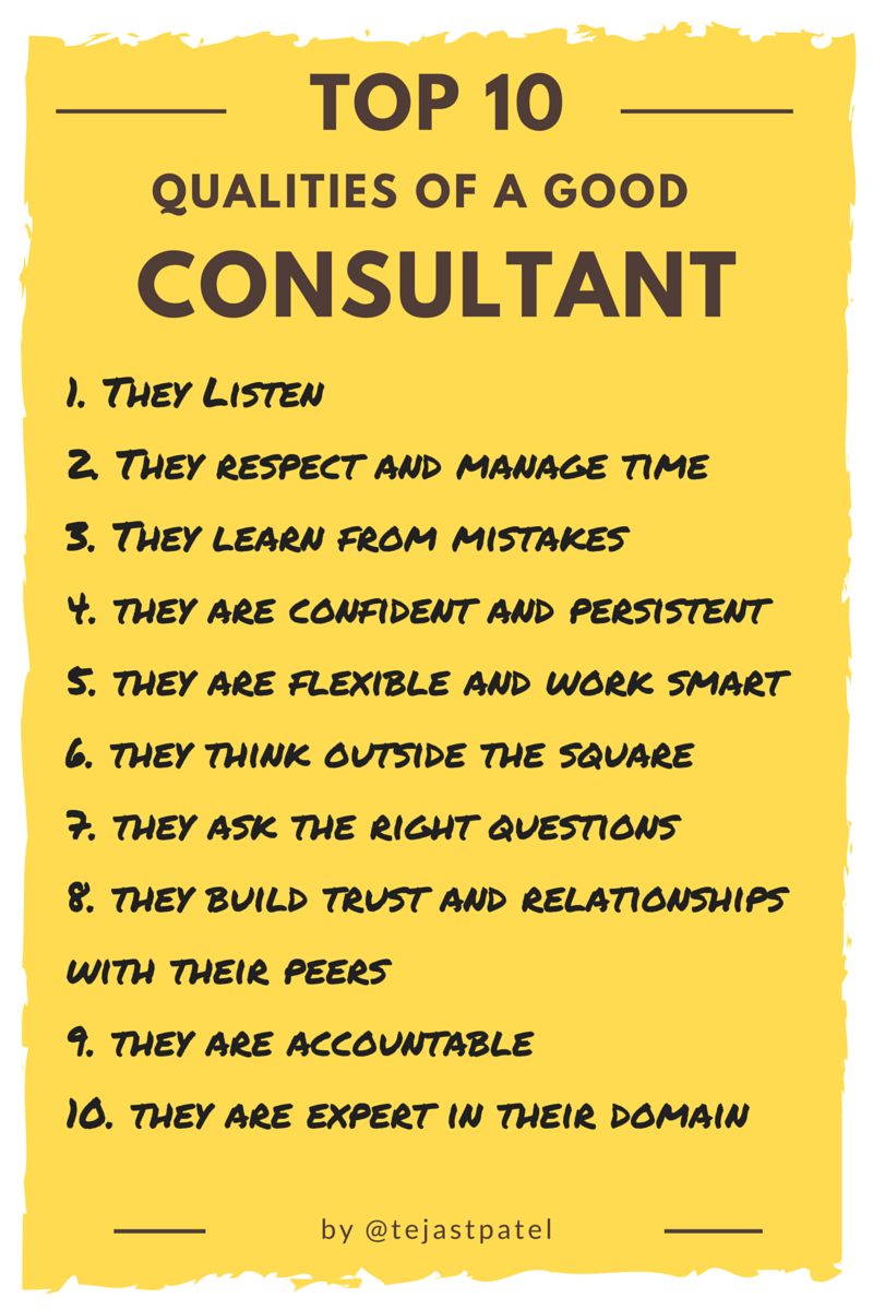 Top10 Qualities of Consultant